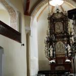 Prezbiterium kościoła pw. Podwyższenia Krzyża w Sulikowie woj. dolnośląskie