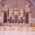 Prospekt organowy z kościoła poklasztornego pw. św. Stanisława Biskupa i Męczennika w Koźminie Wielkopolskim