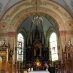 Wnętrze kaplicy szpitalnej klasztoru Bonifratrów w Piaskach - Marysinie woj. wielkopolskie