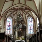 Wnętrze kościoła pw. NMP Wniebowziętej w Psarskiem woj. wielkopolskie.
