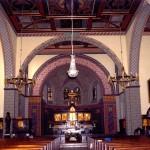 Wnętrze kościoła pw. Niepokalanego Poczęcia NMP w Chojnów woj. dolnośląskie