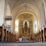 Wnętrze kościoła pw. św. Wojciecha w Jankowie Zaleśnym woj