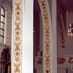 Wnętrze kościoła pw. św. ap. Piotra i Pawła w Kostrzynie woj. wielkopolskie