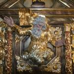 Zwieńczenie ołtarza bocznego w kościele św. Małgorzty w Gostyniu woj. wielkoposkie